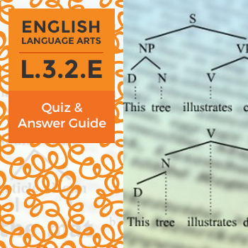 L.3.2.E - Quiz and Answer Guide