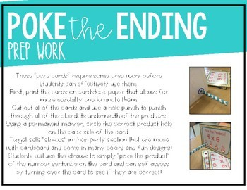 L.3.2e - Poke the Inflectional Ending! (-ing, -ed, -s)