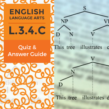 L.3.4.C - Quiz and Answer Guide