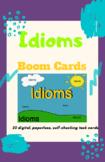L.3.5.b. Idioms Digital Task Cards with Boom Cards Grades 4-6