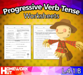 L.4.1.B - Progressive Verb Tense Worksheets