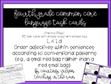 L.4.1.d Ordering Adjectives Task Cards and Worksheet