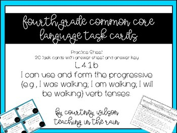 L.4.1.b Task Cards and Worksheet