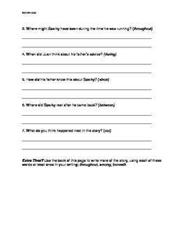 L.4.1.e Form and use prepositional phrases