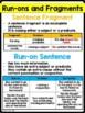 L.4.1.f- Producing Complete Sentences, Run-On Sentences, Sentence Fragments