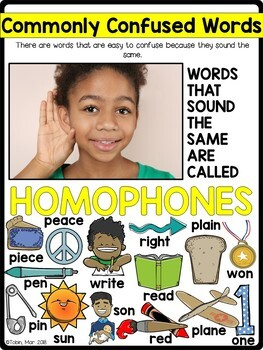 L.4.1.g- Homophones- Commonly Confused Words
