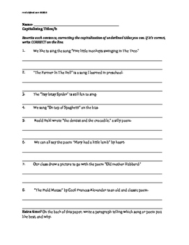 L.4.2: Capitalizing; Quotation Marks, Coordinating Conjunctions BUNDLE