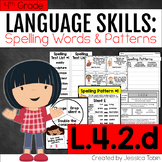 L.4.2.d - Spelling Words - L4.2.d