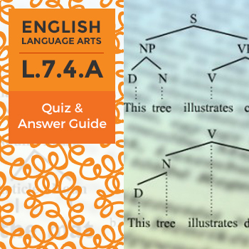 L.7.4.A - Quiz and Answer Guide