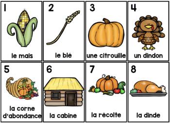 L'Action De Grâce Parts of Speech Silly Sentences French Version
