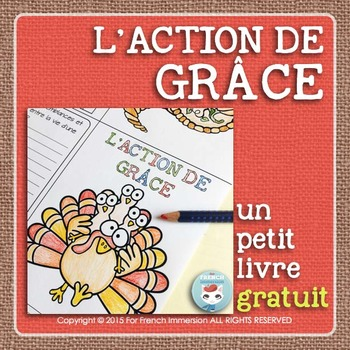 L'Action de Grâce - FREE French Thanksgiving Mini-Book
