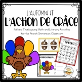 L'Action de Grâce- French Fall and Thanksgiving Activities