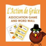 L' Action de Grâce: French Thanksgiving Association Game a