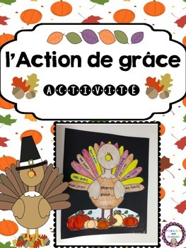 L'Action de Grâce French Turkey Activity for Thanksgiving