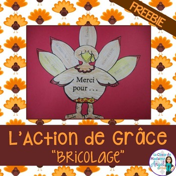 L'Action de Grâce:  French Thanksgiving Freebie