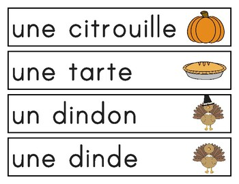 L'Action de grâce - French Thanksgiving (for Core French or Primary French Imm.)