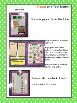 L All Positions Articulation Bump! File Folder Game