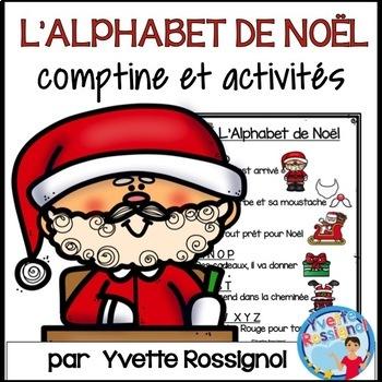 Alphabet Noel l'alphabet de noël (comptine et activités) français, french