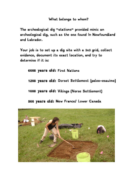 L'Anse Aux Meadows Archology Lesson