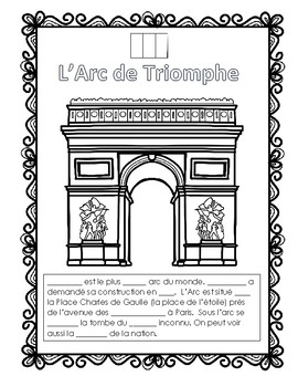 L'Arc de Triomphe Reading and Listening activity Ontario French Culture