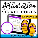 L Articulation Secret Codes BOOM Cards - Summer | Speech |