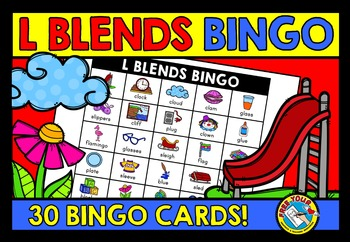 L BLENDS ACTIVITIES: L BLENDS BINGO GAME FOR WHOLE CLASS: L BLENDS GAMES
