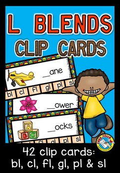L BLENDS CLIP CARDS: PHONICS CENTERS: L BLENDS ACTIVITIES: BLENDS CENTER