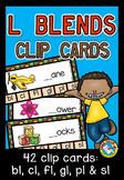 L BLENDS CLIP CARDS: PHONICS CENTERS: L BLENDS ACTIVITIES: