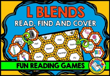 L BLENDS GAME: PHONICS READING CENTERS: BLENDS READING GAM