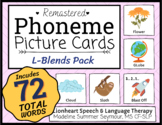 L-BLENDS - Phoneme Picture Cards - Colorful & Engaging