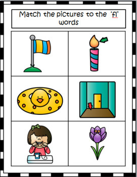 L BLENDS WORD AND PICTURE CARDS