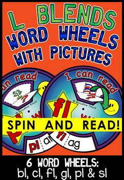 L BLENDS WORD WHEELS WITH PICTURES (L BLENDS ACTIVITIES)L BLENDS READING CENTERS