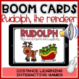 BOOM CARDS CHRISTMAS STORY: RUDOLPH Reading&comprehension