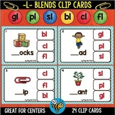 Blends L Clip Cards: bl, cl, fl, gl, pl, sl