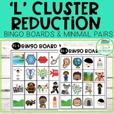 L-Blend Cluster Reduction Bingo Boards & Minimal Pairs - P