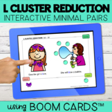 L Blend Cluster Reduction Interactive Minimal Pairs | Boom Cards™