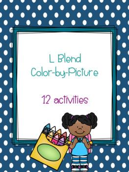 L Blend Color-by-Picture Bundle {12 activities}