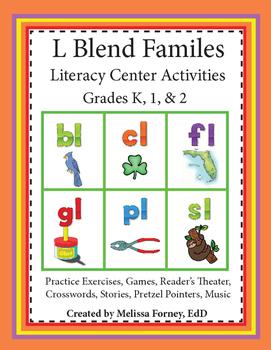 L Blend Families Literacy Center Activities
