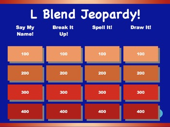 L Blend Jeopardy Games! {6 games}