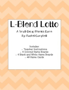 L-Blend Lotto: A Phonics Game