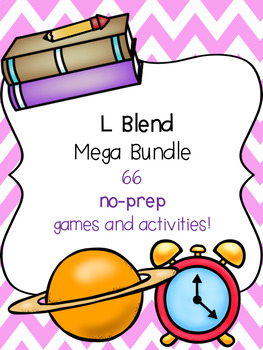 L Blend Mega Bundle! [66 no-prep games and activities]
