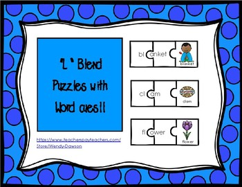 L Blend Puzzles With Written Word Cues