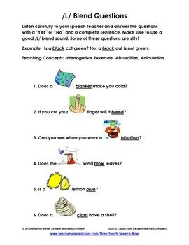 L-Blend Questions