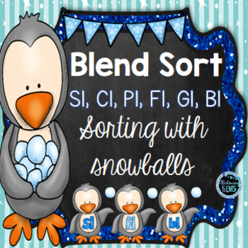 L Blend Sort - Penguin and Snowball Theme