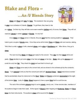 L Blend Story and Comprehension Questions