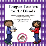 Tongue Twisters for /l/ blends - An Articulation Carryover Activity
