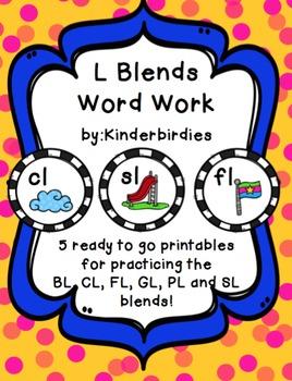 L Blend Word Work Packet