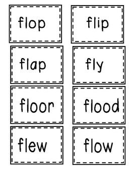 L Blend Write the Room and Flash Cards