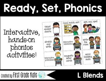 L Blends Interactive Activities (First Grade Phonics)