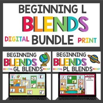 Beginning L Blends bl cl fl gl pl and sl